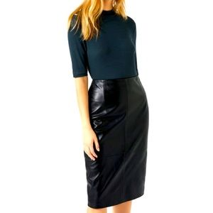 Vintage PCFL High Waisted Leather Skirt Sz 12